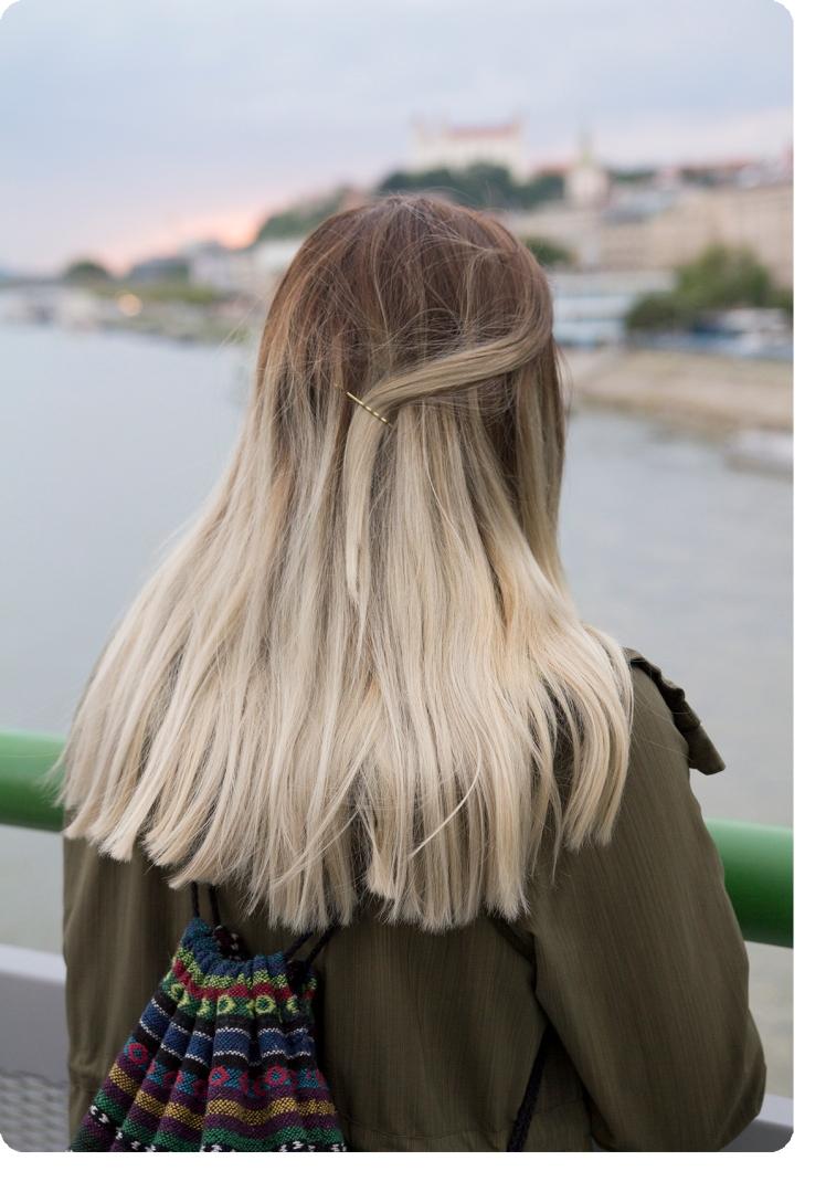 ombre silver hair 2