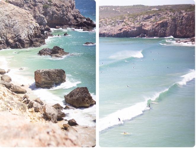 algarve beach cliffs ocean