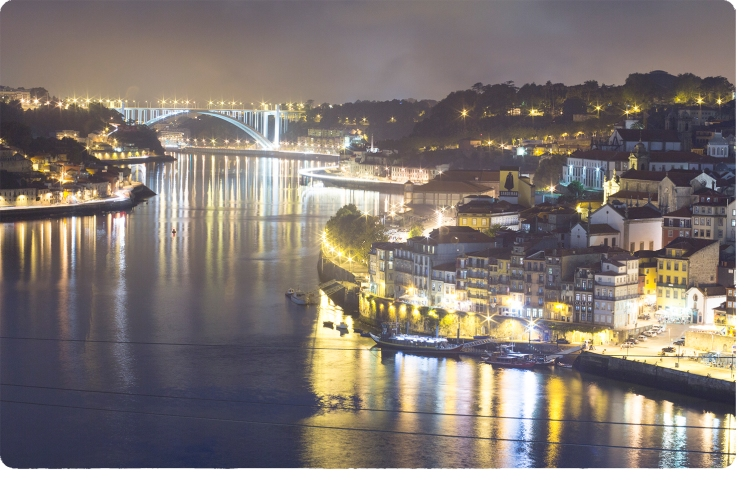 porto night view