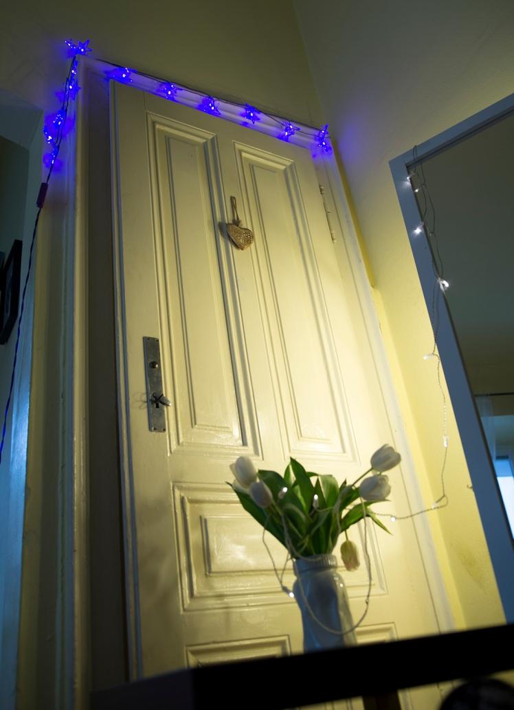 white-door-lights